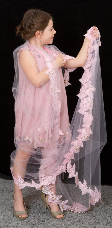 Pink tulle bridal veil to make the boys wink | Head Turners shop